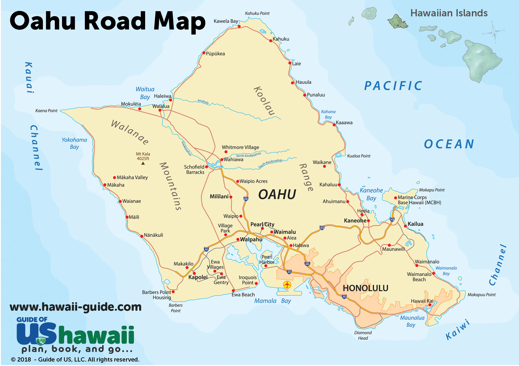 graphic regarding Oahu Map Printable referred to as Oahu Maps