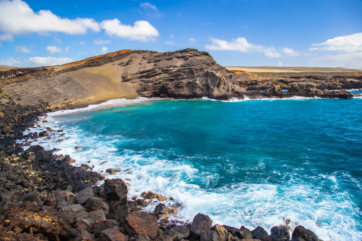 Green Sand Beach - Papakolea  Big Island Of Hawaii-3393