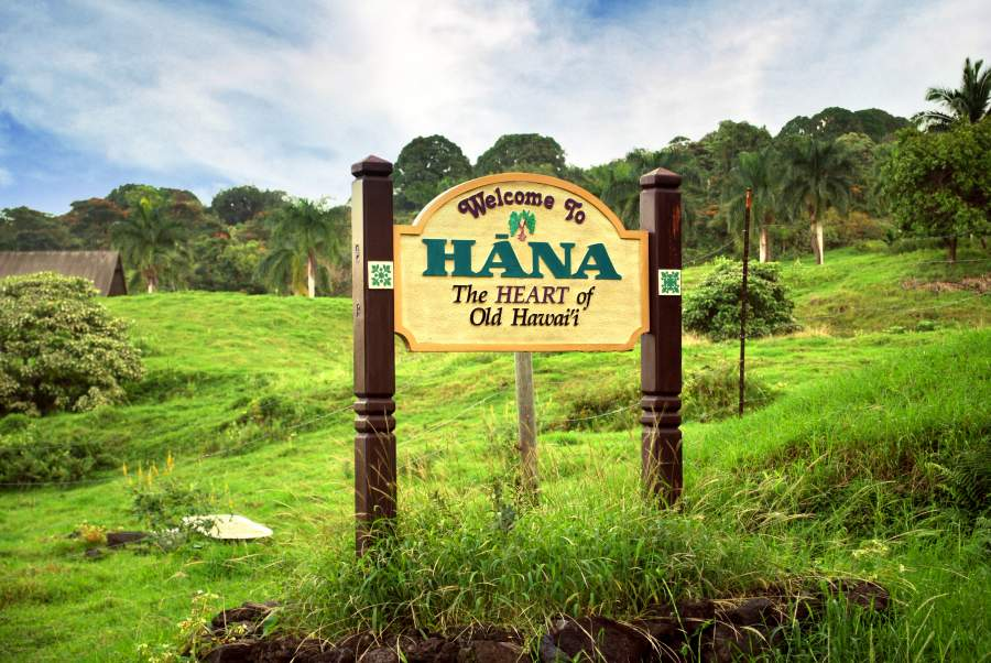 Road to Hana sign