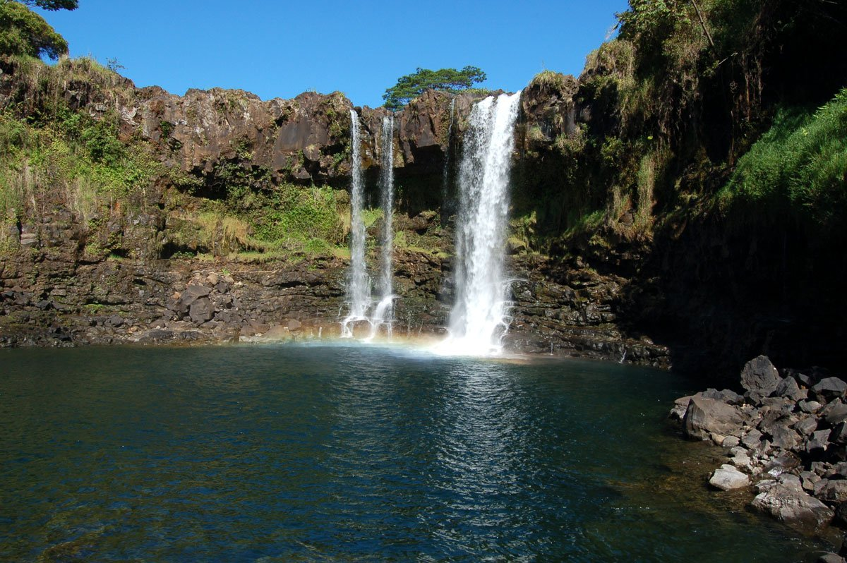 Pe Epe E Falls Big Island Of Hawaii